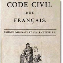 Code civil, Erstausgabe (1804)